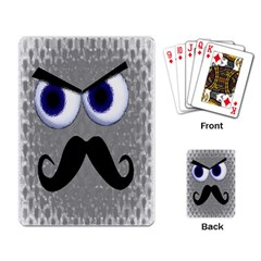 moustache Playing Cards Single Design