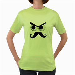 angry man Womens  T-shirt (Green)