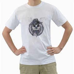 Skull  Mens  T-shirt (White)