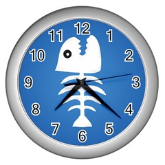 Fishy  Wall Clock (Silver)