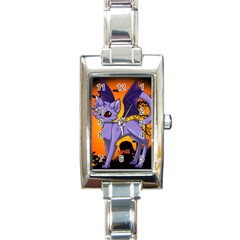 Serukivampirecat Rectangular Italian Charm Watch