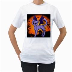 Serukivampirecat Womens  T Shirt (white)