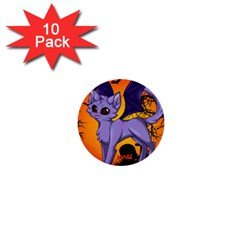 Serukivampirecat 1  Mini Button (10 pack)