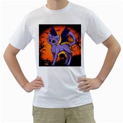 Serukivampirecat Mens  T-shirt (White)