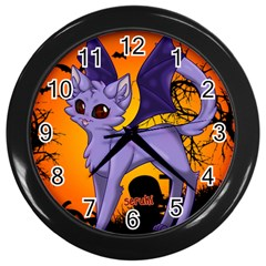 Serukivampirecat Wall Clock (black)