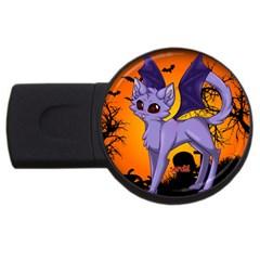 Serukivampirecat 1GB USB Flash Drive (Round)