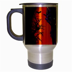Serukivampirecat Travel Mug (silver Gray)
