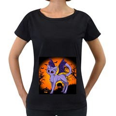 Serukivampirecat Womens' Maternity T-shirt (Black)