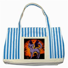 Serukivampirecat Blue Striped Tote Bag