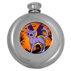 Serukivampirecat Hip Flask (Round)