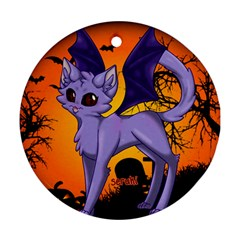 Serukivampirecat Round Ornament (two Sides)