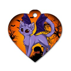 Serukivampirecat Dog Tag Heart (Two Sided)