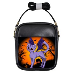 Serukivampirecat Girl s Sling Bag