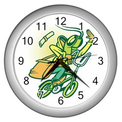 Paperboy Wall Clock (silver)
