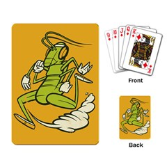 Running Grasshopper Playing Cards Single Design