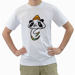 P for Panda Mens  T-shirt (White)