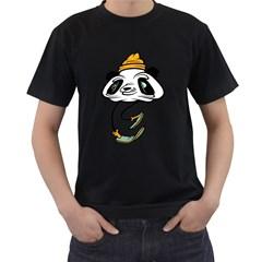 P For Panda Mens' T Shirt (black)