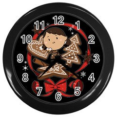 Holiday Wall Clock (black)