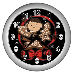 Holiday Wall Clock (silver)