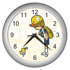 Quack Wall Clock (Silver)