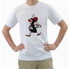 Baseball Fly Mens  T-shirt (White)
