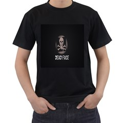 Dead face Mens' Two Sided T-shirt (Black)