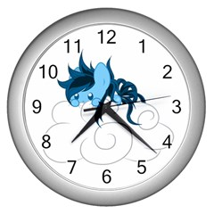 Hiding Wall Clock (silver)