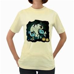 Halloween  Womens  T-shirt (Yellow)