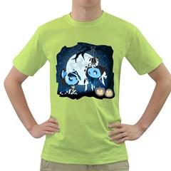 Halloween Mens  T-shirt (Green)