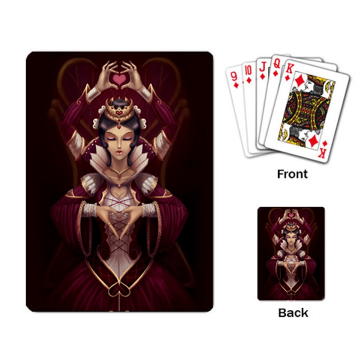Queen of Hearts Playing Cards Single Design