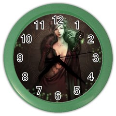 Lady in Red Wall Clock (Color)