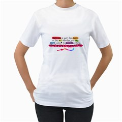 Happiness Womens  T-shirt (White)