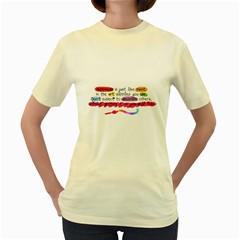 Happiness  Womens  T Shirt (yellow)