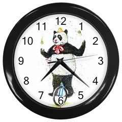 I wanna be colorful Wall Clock (Black)