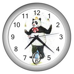 I wanna be colorful Wall Clock (Silver)
