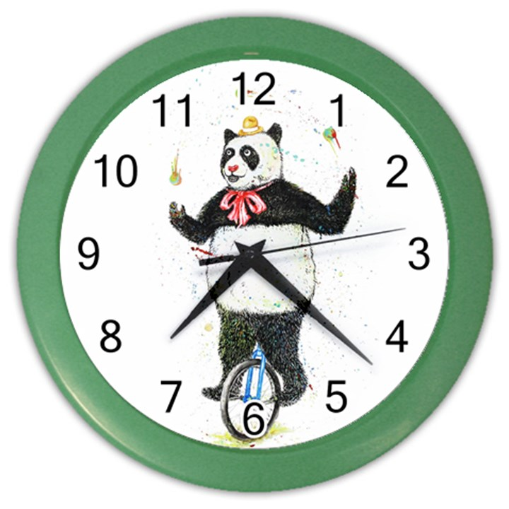 I wanna be colorful Wall Clock (Color)