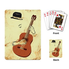 I just play classic guitar Playing Cards Single Design