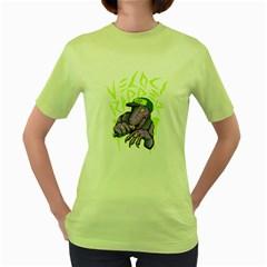 Velocirapper ! Womens  T-shirt (Green)