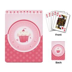 Cupcake Playing Cards Single Design