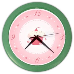 Cupcake Wall Clock (color)