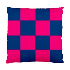 Pink Blue Check Cushion Case (Two Sided)