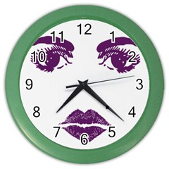 Bedroom Eyes Wall Clock (Color)