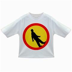 Walking Traffic Sign Baby T-shirt
