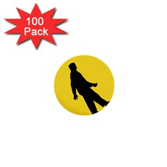 Walking Traffic Sign 1  Mini Button (100 Pack)