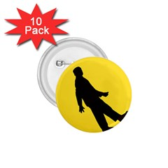 Walking Traffic Sign 1.75  Button (10 pack)