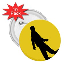 Walking Traffic Sign 2.25  Button (10 pack)