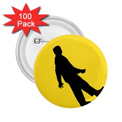 Walking Traffic Sign 2 25  Button (100 Pack)