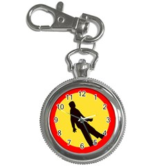 Walking Traffic Sign Key Chain & Watch