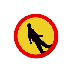 Walking Traffic Sign Drink Coasters 4 Pack (Round)