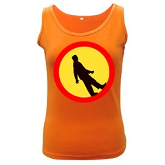 Walking Traffic Sign Womens  Tank Top (Dark Colored)